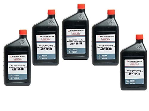 Genuine Mitsubishi Diaqueen SPIII SP3 Transmission Fluid - 5 Quarts - MZ320200 Lancer Diamante Eclipse Galant Endeaver Mirage Montero Montero Sport Outlander (2003 - 2006) Expo LRV 3000GT Pickup with Automatic Transmission