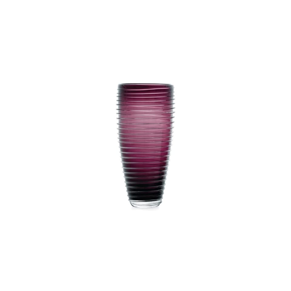 Torre & Tagus Sia Ribbed Glass Tall Vase, Purple