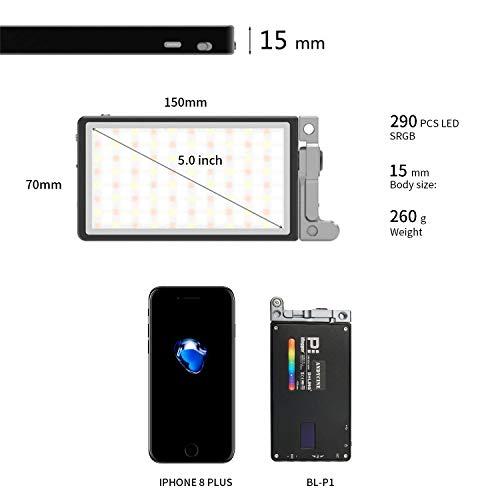 ANDYCINE Vlogger Boling P1 Pocket RGB LED Video Light 2500K-8500K Bi-Color On Camera Video Studio Light with CRI 96+ Built in Battery by ANDYCINE (Image #2)