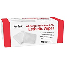 For Pro Esthetic Wipe, 4 Inch X 4 Inch, 200 Count
