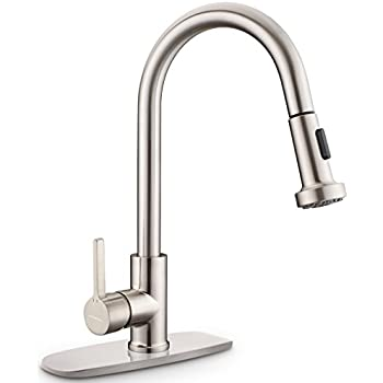 Exceptional Kitchen Faucet, CUPC Certificated Sarissa Brushed Nickel Single Handle Pull  Down Sprayer Kitchen Sink Faucet