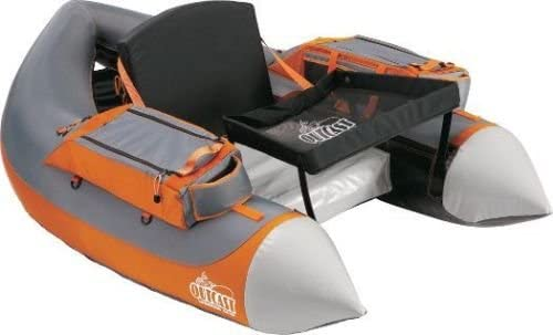 Outcast Super Fat Cat -Gray Orange Float Tube – with Free 35 Gift Card