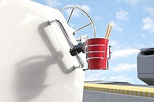 Pontoon Fishing Boat Stainless Steel Clamp Mount Drink Holder Bracketron