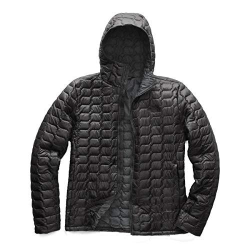(The North Face Men's Thermoball Hoodie - Asphalt Grey & Asphalt Grey Line Ripstop Print - L)