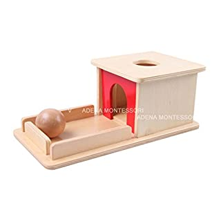 Object Permanence Box with Tray Montessori Toddler Materials Educational Preschool Early Learning Montessori Toys for Toddlers