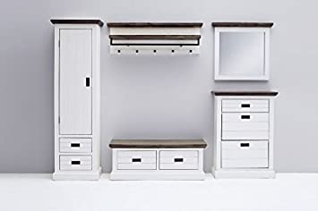 Garderobe Komplett Garderobenset Spiegel Sitzbank