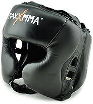 MaxxMMA Headgear Black L/XL for Boxing MMA