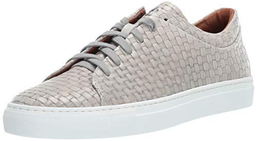 Aquatalia Women's Avery Embossed Calf Sneaker Light Grey 8.5 M US