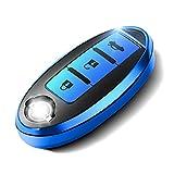 RABILTY Nissan Key Fob Cover Protección Completa Funda Key Fob con Llavero Compatible con el Control Remoto sin Llave Nissan Serie Key Key TEANA Jun Qashqai X-Trail