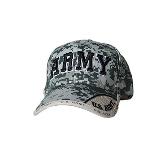 Army Digital Pixel Camo Text Cap (Pixel Camo Army Cap)