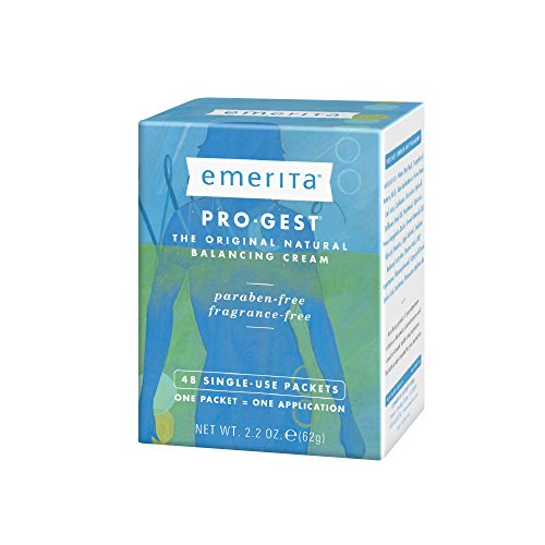 Emerita Pro-Gest Balancing Cream Single-Use Packets | USP Progesterone Cream from Wild Yam for Optimal Balance at Midlife | 48 Packets - Estrogen Healthy