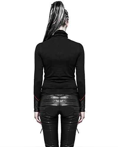 Punk Rave -  Maglia a manica lunga  - Con cappuccio  - Maniche lunghe  - Donna