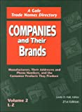 Companies and Their Brands, , 0787633321