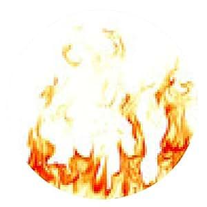 alfombrilla de ratón llamas de fuego aisladas sobre fondo blanco - ronda - 20cm