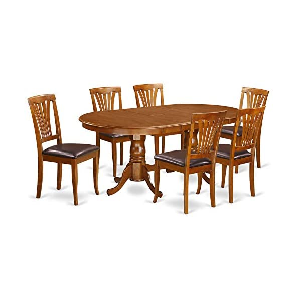 7 PC Dining set-Dining Table and 6 Dining Chairs