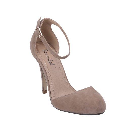 aa1438cffb9 Bonnibel ALIA-1 Women s Round Toe D orsay Buckle Ankle Strap Stiletto Heels