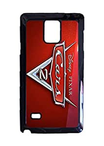 Cars 2 Custom Image Case, Diy Durable Hard Case Cover for Samsung Galaxy Note 4 , High Quality Plastic Case By Argelis-Sky, Black Case New