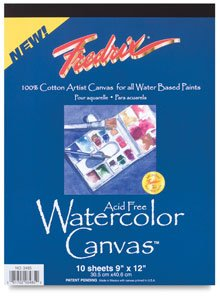 Fredrix Watercolor Canvas Pad 16X20 by Fredrix