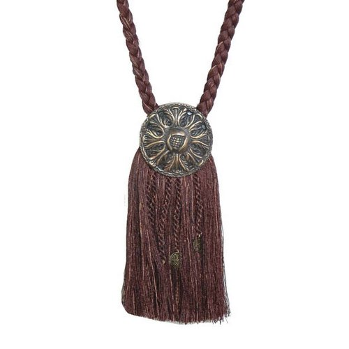 (India House 76732 Tieback Medallion Tassel, 9-Inch, Chocolate Mix)