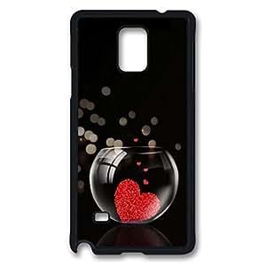 The heart in the Fish Tank Custom Back Phone Case for Samsung Galaxy Note 4 PC Material Black -1210095 WANGJING JINDA