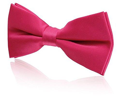 Poly Pre Tie Bow Pink Tied Bright qCCFZw4p