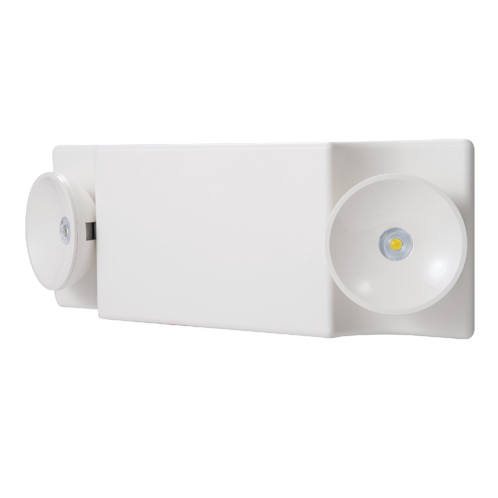 Sure-Lites SEL25 White Integrated LED Plastic Exit Sign with NiCad Battery and Coverage Area of 25', White