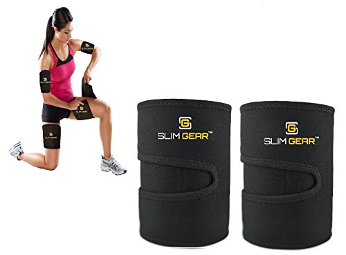 Slim Gear Body Wraps for Fit Arms and Thighs - Lose Excess Fat & Reduce Cellulite - 4 Piece Kit (Large)