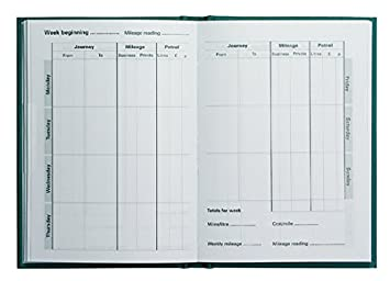 collins mrb1 essentials mileage record book green amazon co uk