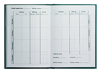 amazon com collins essentials mileage record book green office