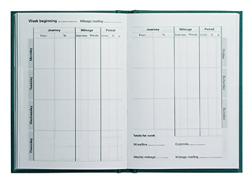 collins mrb1 essentials mileage record book green amazon co uk