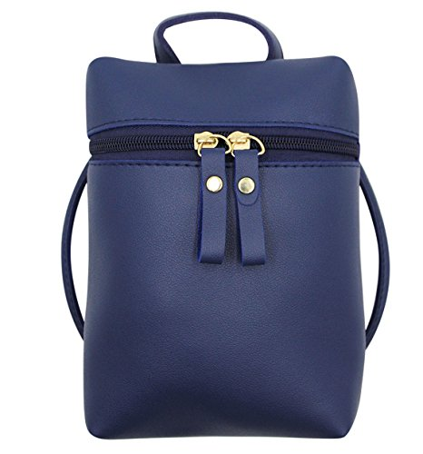 Purse Simple Crossbody with Women Hossty Girls Strap Cell Satchel Shoulder Adjustable Phone Small Blue Bag Pouch 6gRx6rEw5q