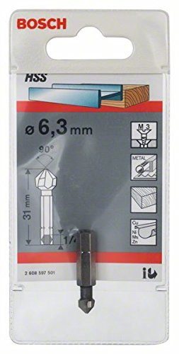 Bosch 2608597501 Taper Countersink Bit 6, 3mm M3 - - Amazon com