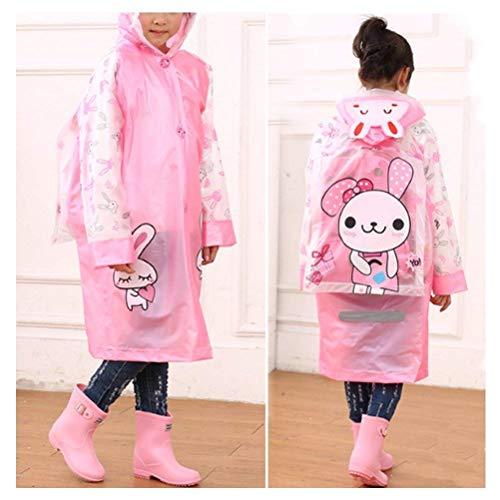 Poncho Fête Au Dos Gonflable Rayures Pink Style L'eau Imperméable Avec Chapeau Vent Respirant Réfléchissantes De Pour À Enfant Et aw5vF6nqH