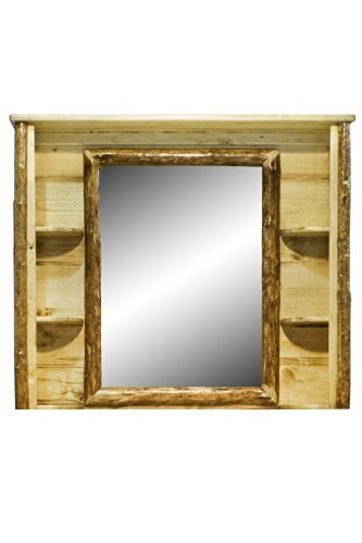 Montana Woodworks Glacier Country Collection Deluxe Dresser Mirror