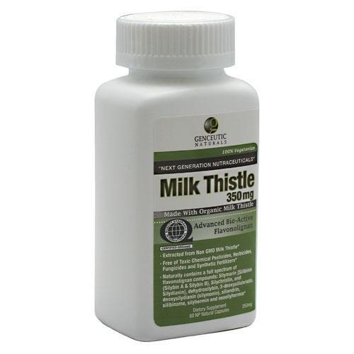 Naturals Genceutic - Organic Milk Thistle 350 mg, 60 gélules