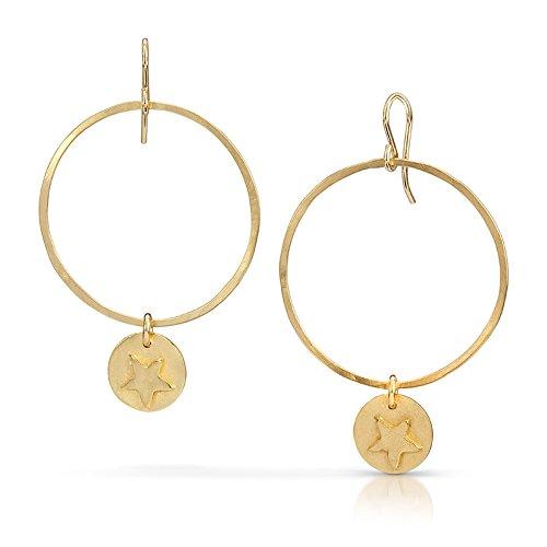 Star Hoops - 18K Gold Vermeil - Earrings Anderson Star