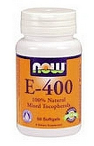 NOW E-400 Mt, 100 Softgels (Pack of 2)