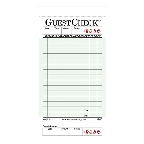 NCCO Guest Check G3632SP - 1 Case of 10 Book
