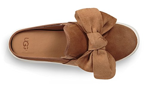 Bow Women'S Slides 100 UGG Beige Leather Women'S In Luci Beige vFgqERAn
