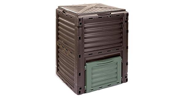 Compostador de compostador 4smile - Made in Europe, 300 L Jardín Papelera, base térmica - Compostador sin para basura orgánica   Color: antracita vegetal de ...