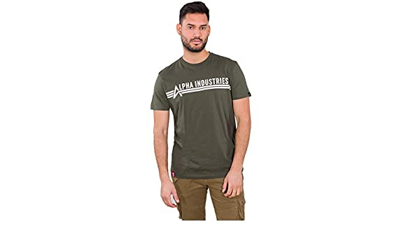 ALPHA INDUSTRIES Camiseta Dark Olive: Amazon.es: Ropa y accesorios