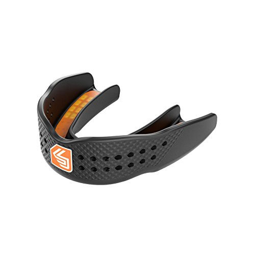 Shock Doctor Mouthguard SuperFit – Easy-Fit Strap/Strapless mouthguard – Low Profile Fit perfect for Basketball, Hockey, Lacrosse, - All Sport