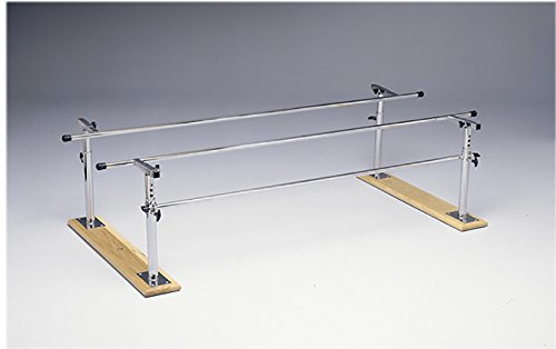 Fabrication Enterprises 15-4000 Folding Parallel Bars with 7' Length Wood Base, 42