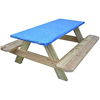 Fitted Picnic And Banquet Table Cover Blue