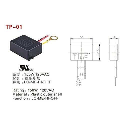 delicate Zing Ear TP-01 ZH Touch Light Table Lamp Dimmer Switch Control Module Sensor