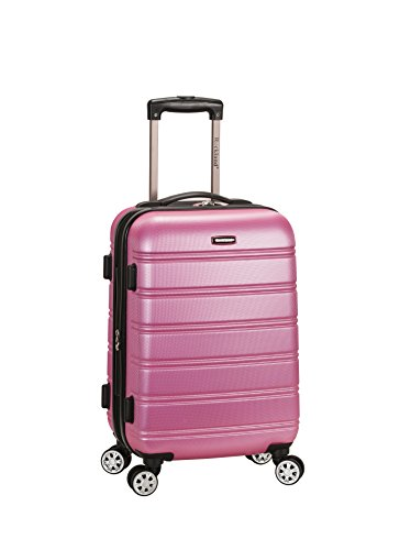 Pink Suitcase - Rockland Luggage Melbourne 20 Inch Expandable Abs Carry On Luggage, Pink, One Size