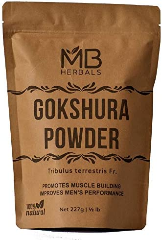 MB Herbals Gokshura Powder 227g | Half Pound | Full Spectrum Tribulus | Helps to Build & Strengthen Muscles | Restores Energy Levels | Promotes Easy Urination & Normal Kidney & Bladder Functions