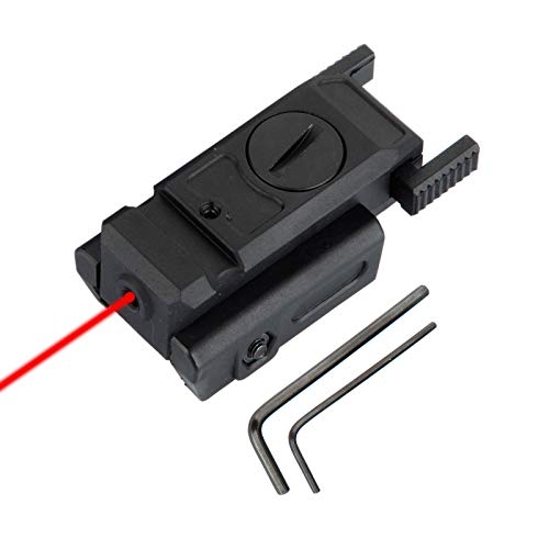 Tactical Red Dot Laser Sight with 20mm Picatinny Weaver Rail Mount for Pistol Handgun Airsoft