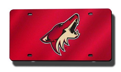 - Rico Industries NHL Arizona Coyotes Laser Inlaid Metal License Plate Tag