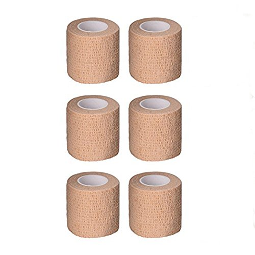 Tattoo Grip Cover Self-Adhesive Elastic Bandage 2'' x 5y Nonwovens Sport Bandages Movement Bandage Medical Wrap 6 Roll Supplies (2' Dressing)